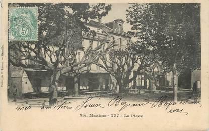 """CPA FRANCE 83 """" Ste Maxime, La place"""""""