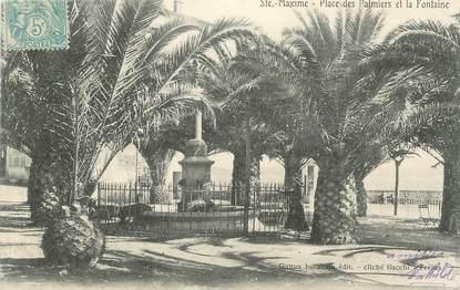 """CPA FRANCE 83 """" Ste Maxime, Place des Palmiers et la fontaine"""""""