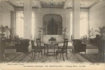 "CPA FRANCE 83 "" Beauvallon, Le hall du Touring Hôtel"""