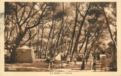 "CPA FRANCE 83 "" La Capte, Le camping"""