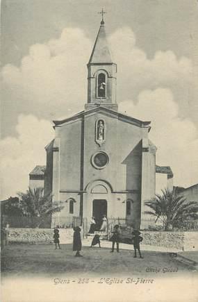 """CPA FRANCE 83 """" Giens, L'église St Pierre"""""""