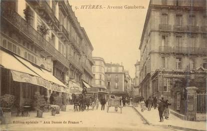 """CPA FRANCE 83 """" Hyères, Avenue Gambetta"""""""