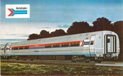 CPSM TRAIN / USA /  AMTRAK