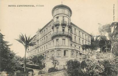"CPA FRANCE 83 "" Hyères, Hôtel Continental"""