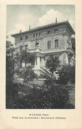 """CPA FRANCE 83 """" Hyères, Villa des Anémones, Boulevard d'Orient"""""""