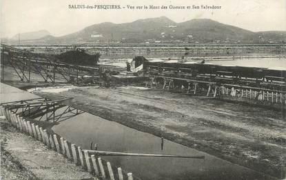 """CPA FRANCE 83 """"Salins des Pesquiers, Vue sur le Mont des Oiseaux et San Salvadour"""""""