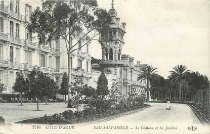 """CPA FRANCE 83 """"San Salvadour, Le château et les jardins"""""""