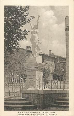 """CPA FRANCE 83 """" Les Arcs sur Argens, Le monument aux morts"""""""