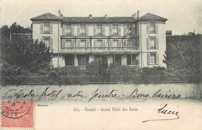 "CPA FRANCE 83 "" Bandol, Le Grand Hôtel des Bains"""