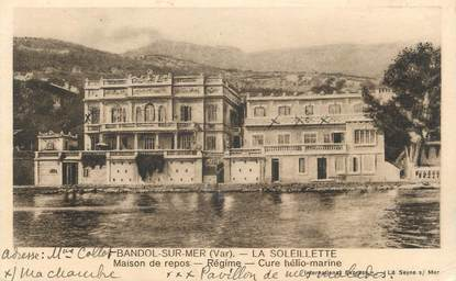 """CPA FRANCE 83 """" Bandol, La Soleillette maison de repos"""""""