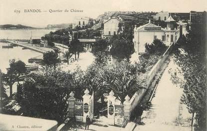 """CPA FRANCE 83 """" Bandol, Le quartier du château"""""""