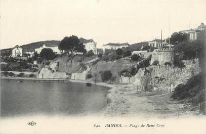 """CPA FRANCE 83 """" Bandol, Plage René Cros"""""""