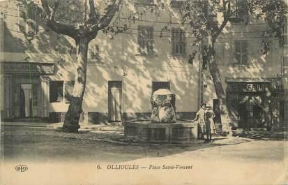 """CPA FRANCE 83 """" Ollioules, La Place St Vincent"""""""