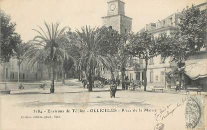 """CPA FRANCE 83 """" Ollioules, Place de la Mairie"""""""