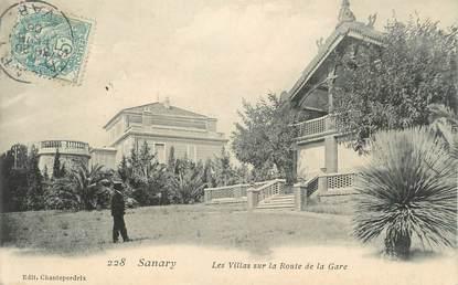 """CPA FRANCE 83 """" Sanary sur Mer, Les villas sur la route de la gare"""""""