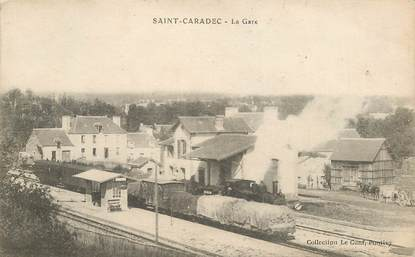 "CPA FRANCE 22 ""Saint Caradec, la gare"""