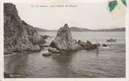 """CPA FRANCE 83 """" Ile de Ribaud, Une partie de pêche"""""""