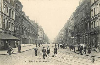 """CPA FRANCE 59 """"Lille, Rue Nationale"""""""