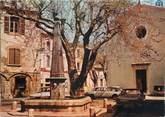 """83 Var CPSM FRANCE 83 """" Garéoult, La Place de l'église et la fontaine"""""""