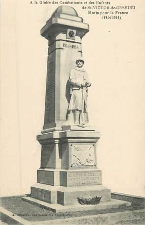 """CPA FRANCE 38 """" St Victor de Cessieu, Le monument aux morts"""""""