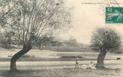 """CPA FRANCE 38 """" St Didier de la Tour, Le Lac"""""""