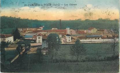 """CPA FRANCE 38 """" St Clair de la Tour, Les usines"""""""