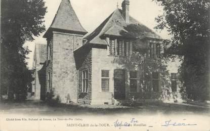 """CPA FRANCE 38 """" St Clair de la Tour, Le Château du Mouillat"""""""