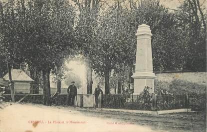 """CPA FRANCE 38 """" Cessieu, La place et le monument aux morts"""""""