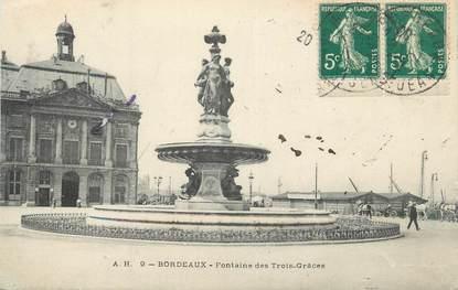"""CPA FRANCE 33 """" Bordeaux, Fontaine des Trois Grâces"""""""