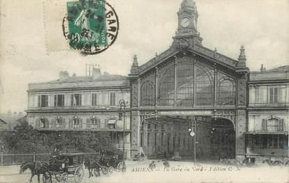 """CPA FRANCE 80 """" Amiens, La gare du Nord"""""""