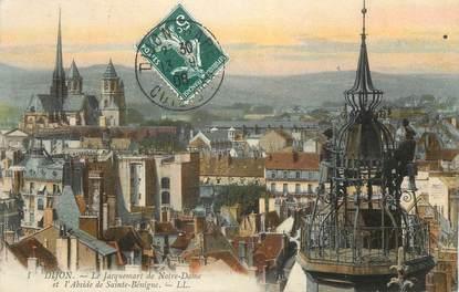 """CPA FRANCE 21 """" Dijon, Le Jacquemart de Notre Dame et l'Abside de Ste Bénigne"""""""