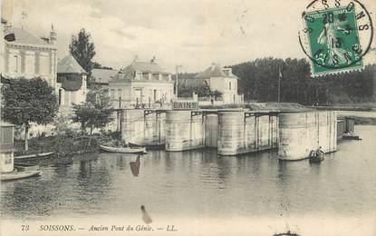 """CPA FRANCE 02 """" Soissons, Ancien Pont du Génie"""""""