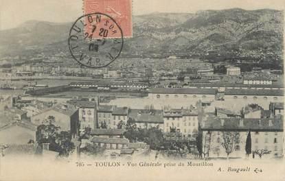 """CPA FRANCE 83 """"Toulon, Vue générale prise du Mourillon"""""""