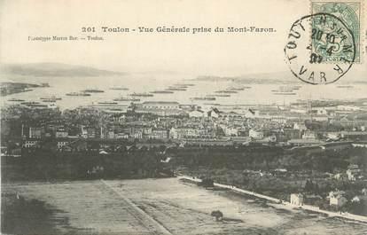 """CPA FRANCE 83 """"Toulon, Vue générale prise du Mont Faron"""""""
