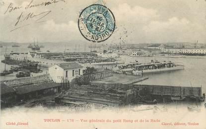 """CPA FRANCE 83 """"Toulon, Vue générale du Petit Rang et de la Rade"""""""