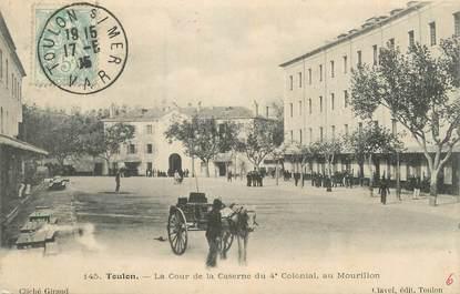 """CPA FRANCE 83 """"Toulon, La caserne du 4ème Colonial au Mourillon"""""""