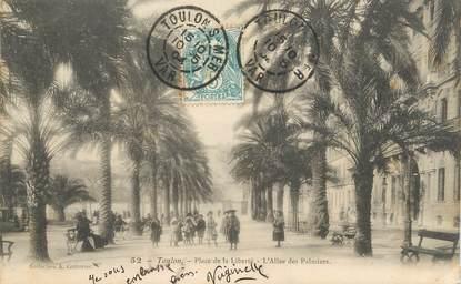 """CPA FRANCE 83 """"Toulon, Place de la Liberté, l'Allée des Palmiers"""""""