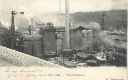 """CPA FRANCE 71 """" Le Creusot, Les Hauts Fourneaux"""""""