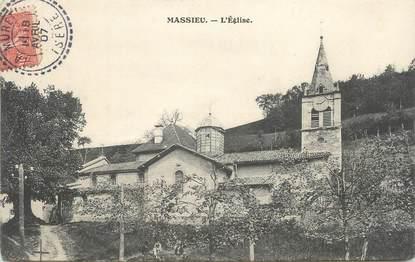 "CPA FRANCE 38 "" Massieu, L'église"""
