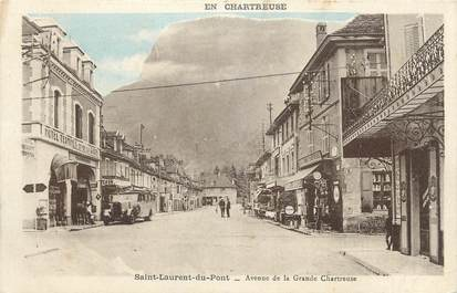 """CPA FRANCE 38 """" St Laurent du Pont, Avenue de la Grande Chartreuse"""""""