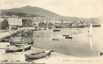 """CPA FRANCE 20 """" Corse, Ajaccio, Vue générale des quais"""""""