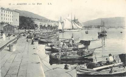 """CPA FRANCE 20 """" Corse, Ajaccio, Le port"""""""