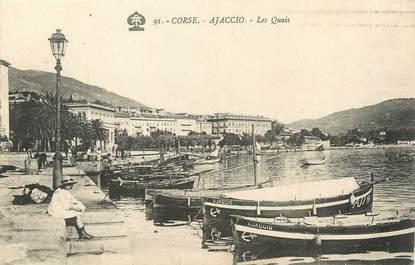"""CPA FRANCE 20 """" Corse, Ajaccio, Les Quais"""""""