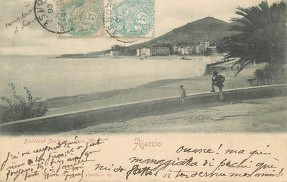 """CPA FRANCE 20 """" Corse, Ajaccio, Boulevard Sautivy"""""""