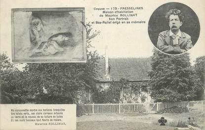 """CPA FRANCE 23 """" Fresselines, Maison d'habitation de Maurice Rollinat"""""""