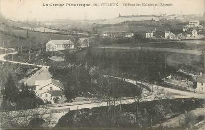 """CPA FRANCE 23 """" Felletin, Le pont des malades et l'abattoir"""""""