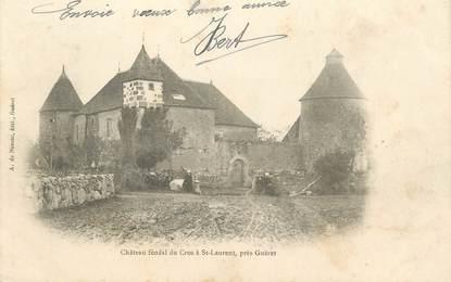 """CPA FRANCE 23 """" St Laurent, Le château féodal du Cros"""""""