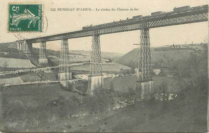 """CPA FRANCE 23 """" Busseau d'Ahun, Le viaduc du chemin de fer"""""""