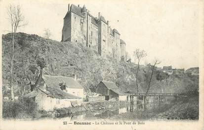 """CPA FRANCE 23 """" Boussac, Le Château et le pont de bois"""""""