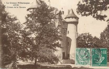"""CPA FRANCE 23 """" Ahun, Le château de la Chezotte""""."""